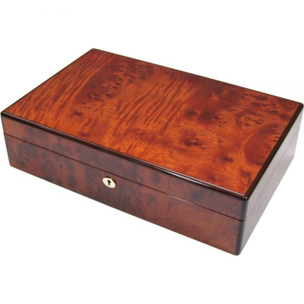 Mappa Burl Wood 12 Watch Storage Box Hillwood