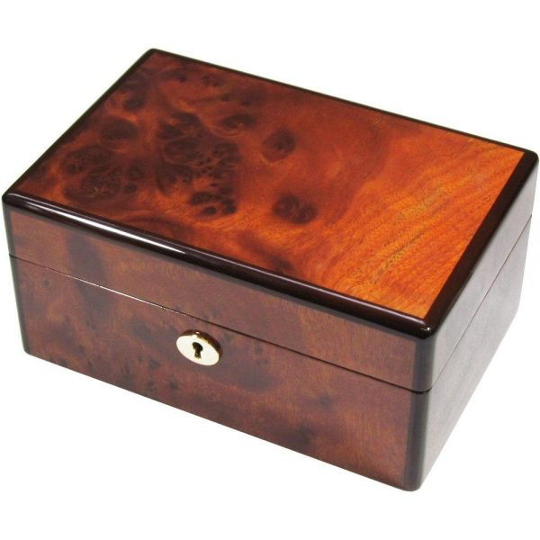 Mappa Burl Wood 3 Watch Storage Box Hillwood