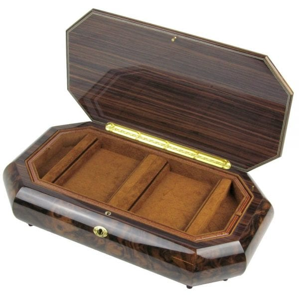 Home Shop Ladies Collection Musical Jewellery Boxes Walnut