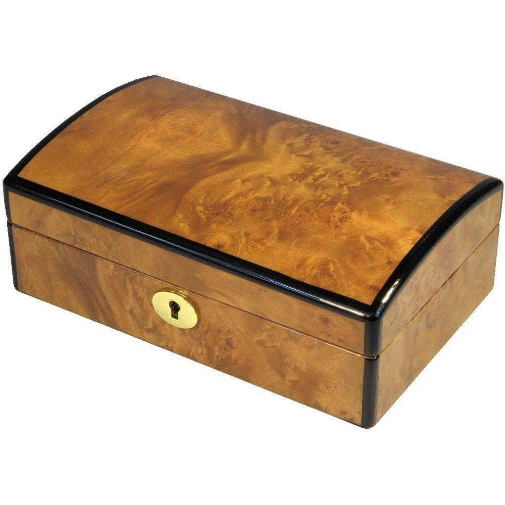 Laminated Maple Burl Jewellery Box Hillwood