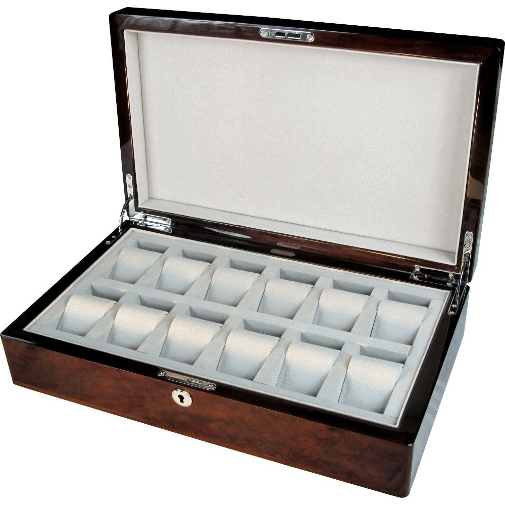 Trend Mark Luxury Wood Watch Box Collectors Black Jewelry & Watches